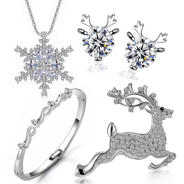 Festive Four Piece Jewellery Set Made with Crystals from Swarovski®