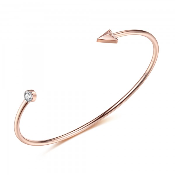 Diamond Arrow Bangle CTTW 0.514 Rose Gold