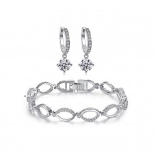 Crystal Hoop Link Set Made with Crystals from Swarovski®