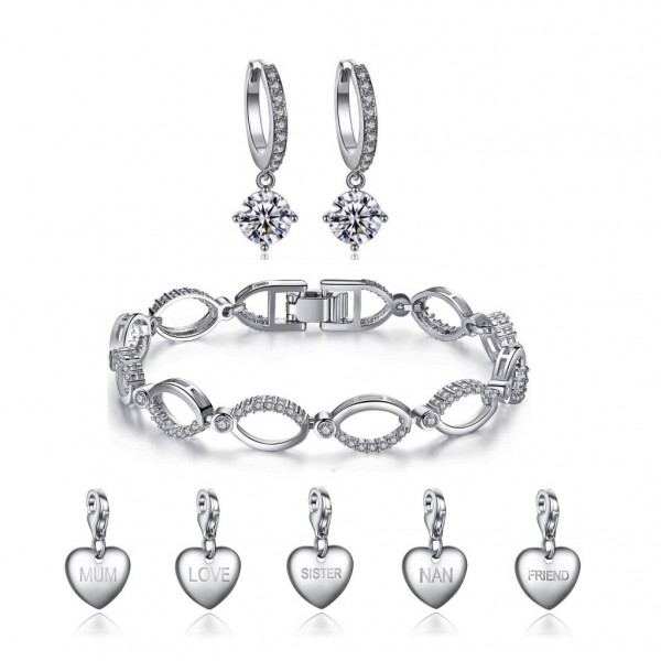 Crystal Link Set made with Crystals from Swarovski® [including choice of charm]