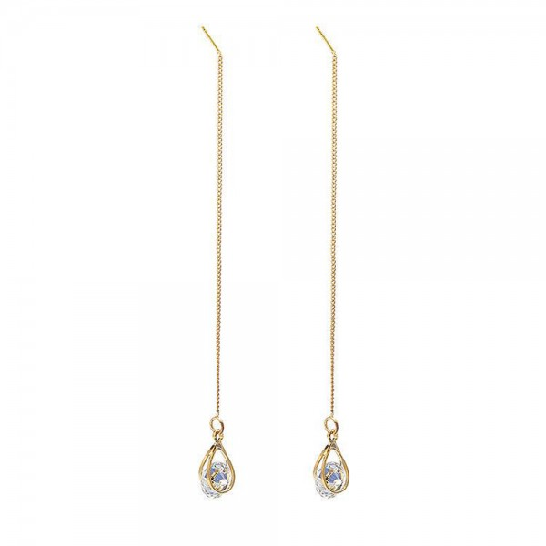 Crystal Drops Earrings with Crystals From Swarovski® Available in silver or gold tone