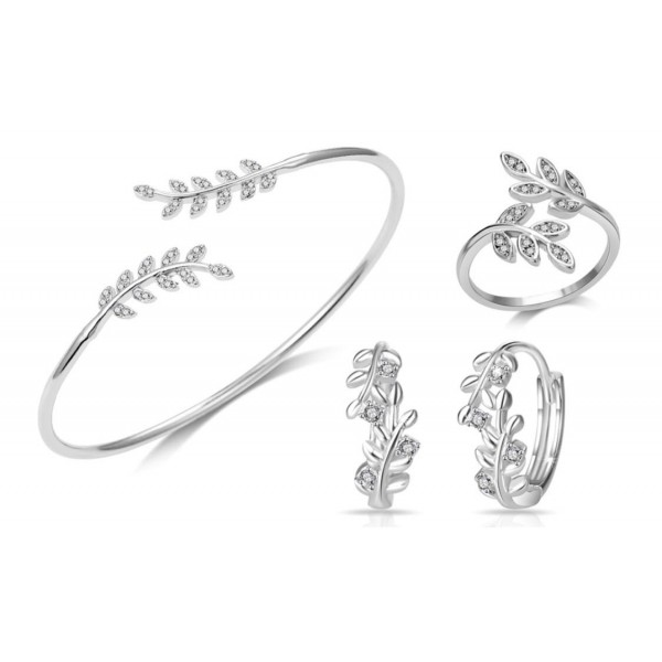 Leaf Set Made with Crystals from Swarovski®