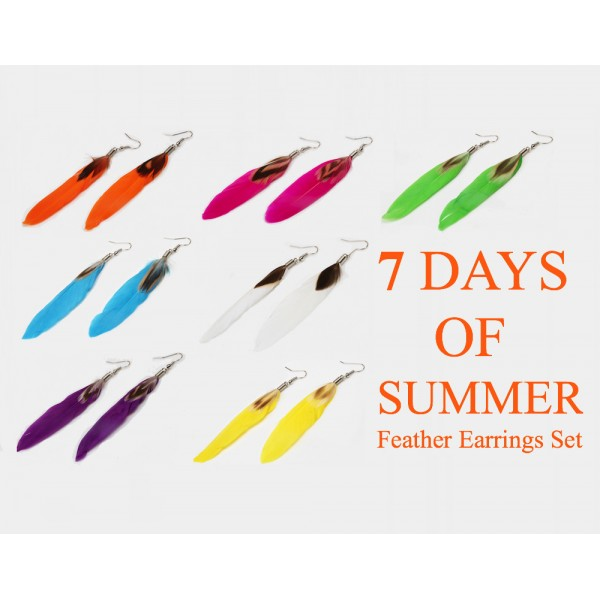 7 Days Of Summer Feather Earrings