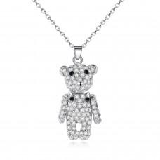 Crystal Encrusted Teddy Bear Pendant