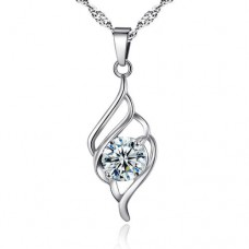 Solitaire Crystal Swirl Pendant Made with Crystals from Swarovski®