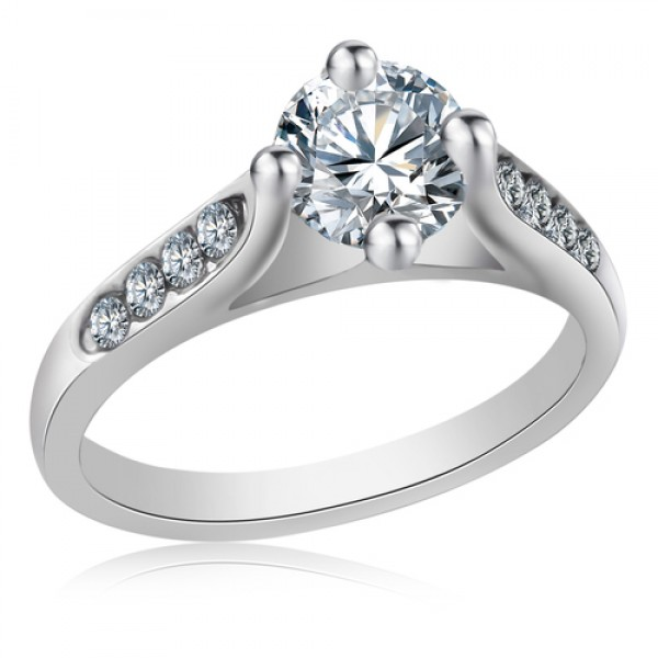 Rhodium Plated Ring with crystals from Swarovski®