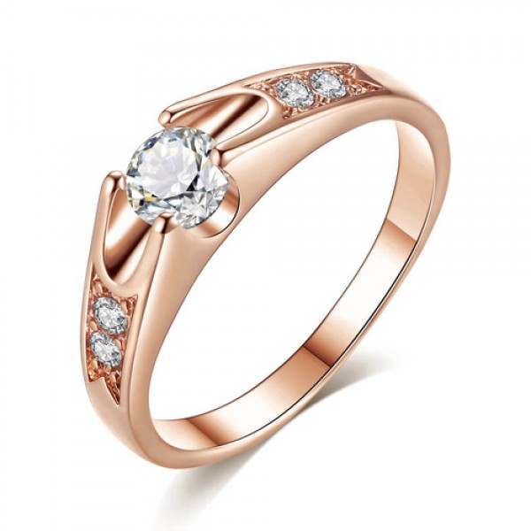 18K Rose Gold Plated Ring with crystals from Swarovski®