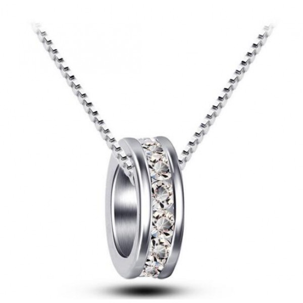 Single Hoop Pendant Made with Crystals From Swarovski®