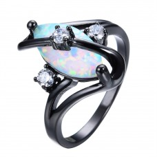 Marquise Cut Opal Gemstone Ring