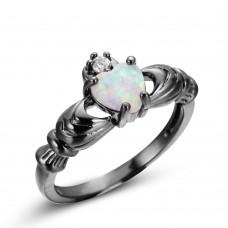 Heart Cut Opal Gemstone Ring