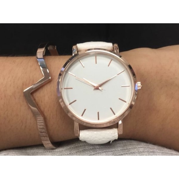 Rose Gold Lightening Bangle and Watch Set