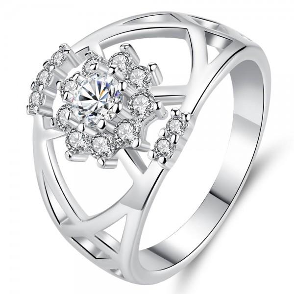 Royal Crystal Bandeau Tiara Inspired Ring