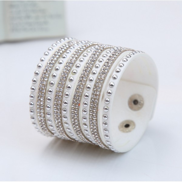 Stud Crystal Fashion Cuff