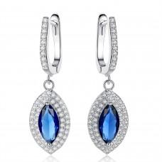 Crystal Blue Marquis Drop Earrings