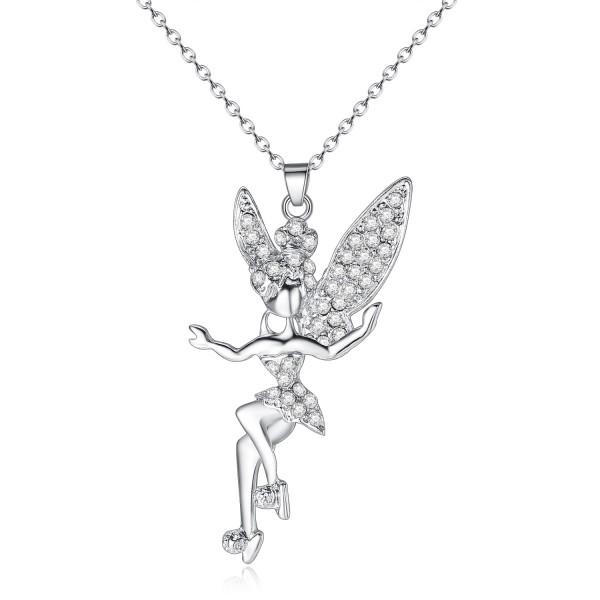 Crystal Encrusted Fairy Pendant