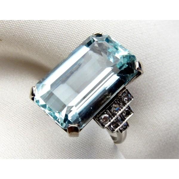 Royal Aqua Marine Inspired Ring