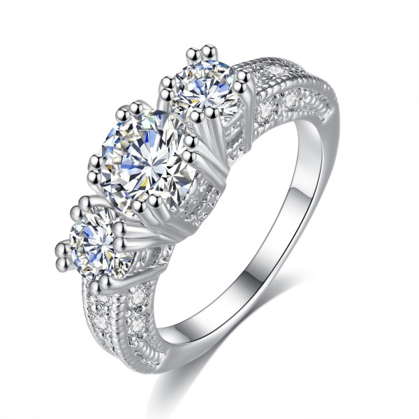 Solitaire Crystal 2 Carat Sapphire Ring