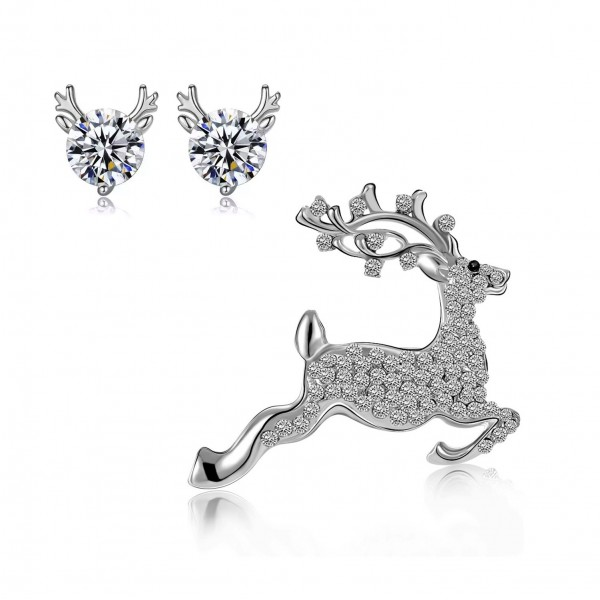 Reindeer Set Made with Crystals from Swarovski®