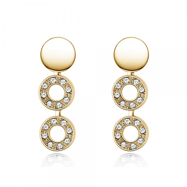 Crystal Circle Hoop Earrings