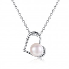 Diamond and Freshwater Pearl Pendant CTTW 0.015