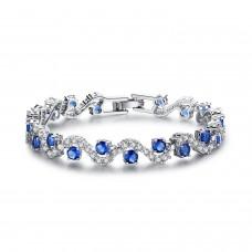 Blue Sapphire Crystal Bracelet