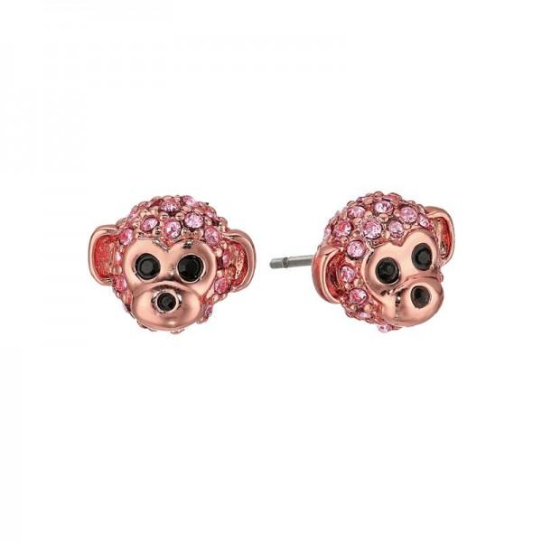 Cheeky Monkey Stud Crystal Earrings