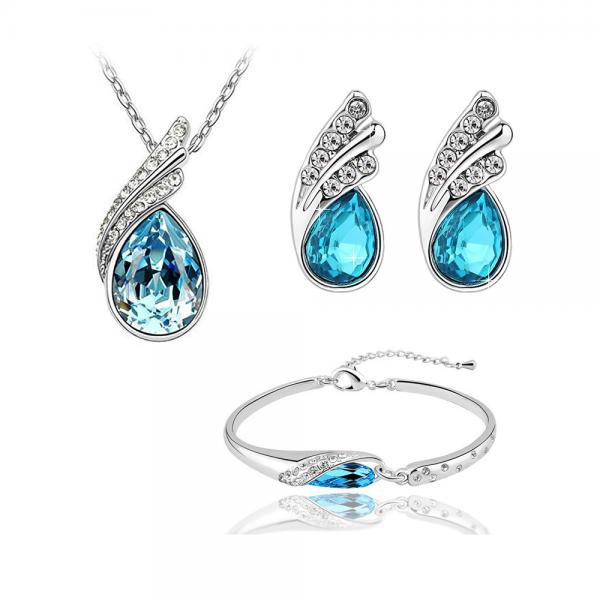 Cinderella Blue Tri-Set with Crystals From Swarovski®