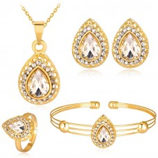 Gem Crystal Water Drop Four Piece Set