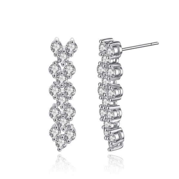 Crystals from Swarovski® Cluster Earrings
