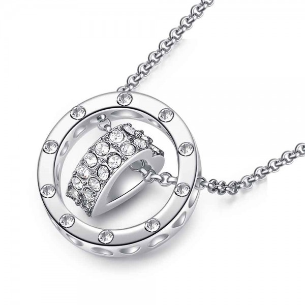 Love Heart and Ring Pendant