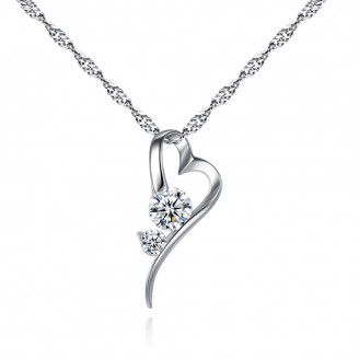 Heart Crystal Pendant with Crystals from Swarovski®