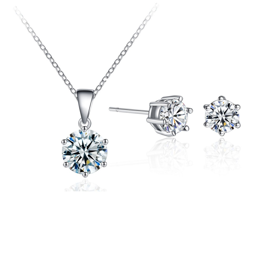 Cc010 new 1000x1000g solitaire pendant stud earrings set with crystals from swarovski mozeypictures Image collections