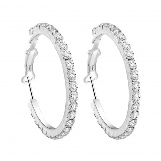 Crystal Hoop Earrings with Cubic zirconia