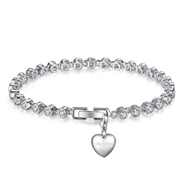 3CT LAB-CREATED SAPPHIRE RHODIUM PLATED BRACELET WITH CHOICE OF CHARM