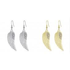 Angel Wing Crystal Earrings
