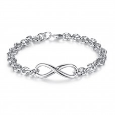 MULTI LINK INFINITY BRACELET WITH OPTIONAL ENGRAVED CHARM