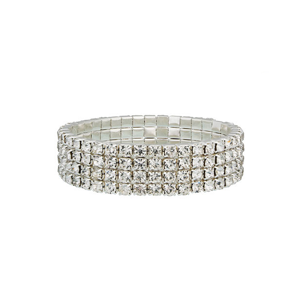 Four Row Tennis Bracelet with crystals from Swarovski®
