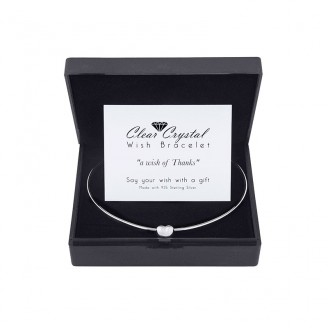 Wish Bracelet plated with Sterling Silver with Happiness Card
