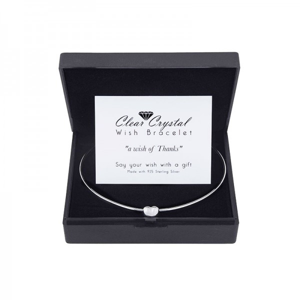 Wish Bracelet plated with Sterling Silver with Love Card