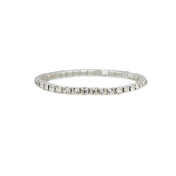 Single Row Tennis Bracelet made with Czech Crystals & Sterling Silver