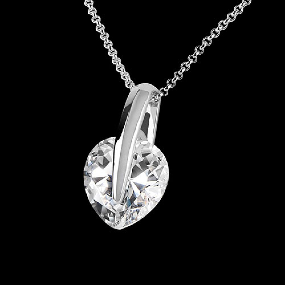 Clear crystal 24 large 1000x1000g large heart crystal pendant 15mm with crystals from swarovski aloadofball Images
